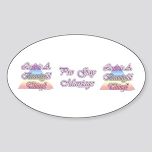 LIBT (Gay Pride Sticker Oval)