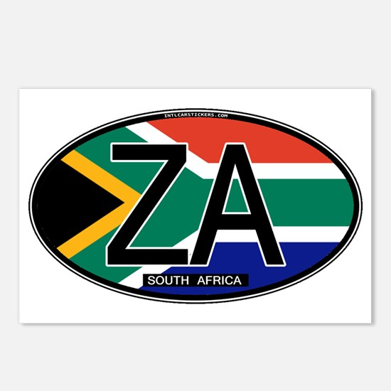 South Africa Colors Oval Postcards (Package of 8)