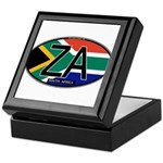South Africa Colors Oval Keepsake Box