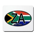 South Africa Colors Oval Mousepad