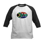 South Africa Colors Oval Kids Baseball Jersey