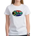 South Africa Colors Oval Women's T-Shirt