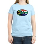 South Africa Colors Oval Women's Light T-Shirt