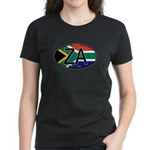 South Africa Colors Oval Women's Dark T-Shirt