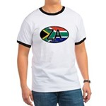 South Africa Colors Oval Ringer T