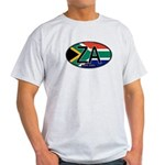 South Africa Colors Oval Light T-Shirt