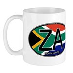 South Africa Colors Oval Mug
