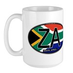 South Africa Colors Oval Large Mug