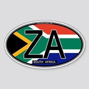 South Africa Colors Oval Oval Sticker