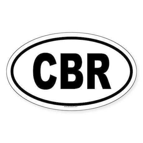 CBR Oval Sticker