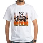 FLAMED HOT ROD White T-Shirt