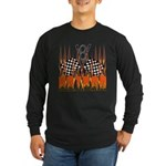 FLAMED HOT ROD Long Sleeve Dark T-Shirt