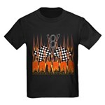 FLAMED HOT ROD Kids Dark T-Shirt