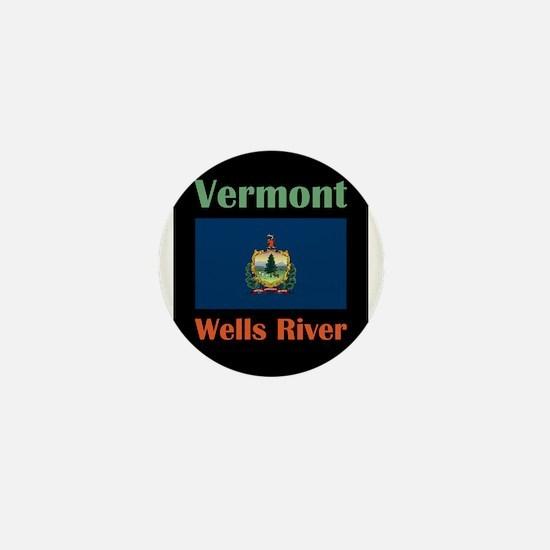 Wells River Vermont Mini Button