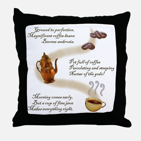 Coffee Haiku Throw Pillow