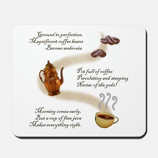 Coffee Haiku Mousepad