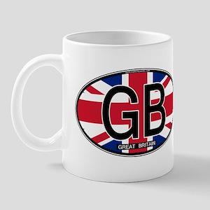 Great Britain Colors Oval Mug