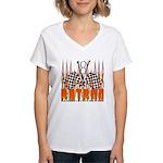 FLAMED RAT ROD Women's V-Neck T-Shirt