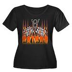 FLAMED RAT ROD Women's Plus Size Scoop Neck Dark T