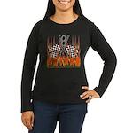 FLAMED RAT ROD Women's Long Sleeve Dark T-Shirt