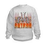 FLAMED RAT ROD Kids Sweatshirt