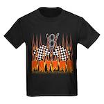 FLAMED RAT ROD Kids Dark T-Shirt