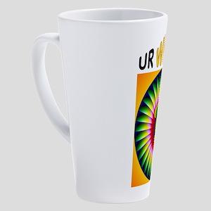 WHAT UR 17 oz Latte Mug