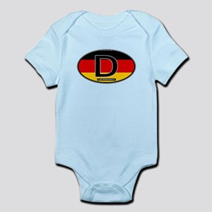 Germany Colors Oval Infant Bodysuit