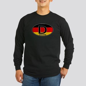 Germany Colors Oval Long Sleeve Dark T-Shirt