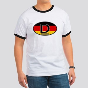 Germany Colors Oval Ringer T