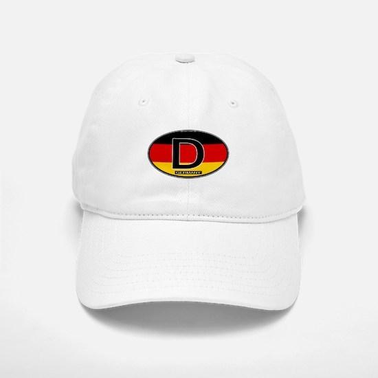Germany Colors Oval Baseball Baseball Cap