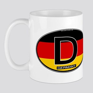 Germany Colors Oval Mug