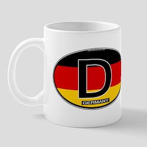 Germany Colors Oval Mug