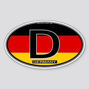Germany Colors Oval Oval Sticker