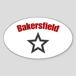 Bakersfield, CA Oval Sticker