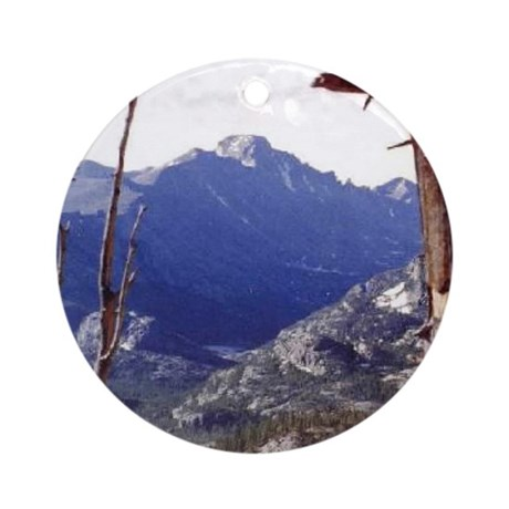 Long's Peak Colorado Keepsake (Round)
