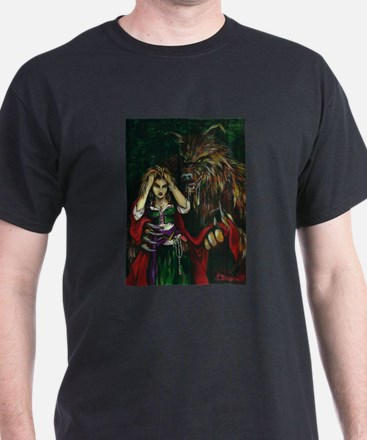 Werewolf and Red T-Shirt