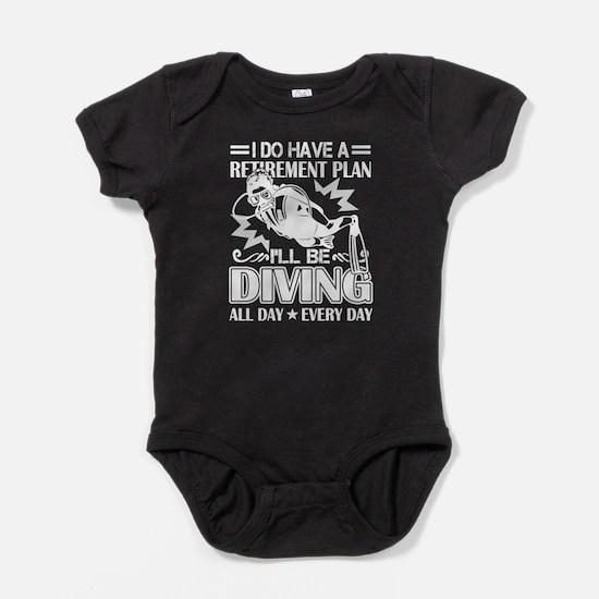 Retirement Plan Scuba Diving Shirt Body Suit