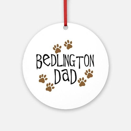 Bedlington Dad Ornament (Round)