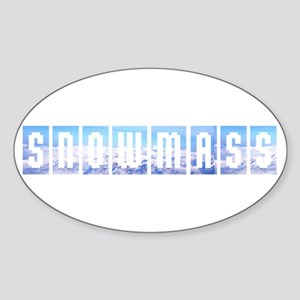 Snowmass, Colorado Oval Sticker