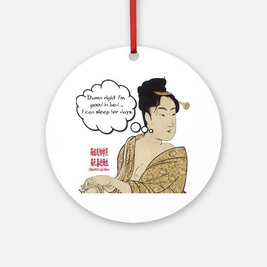 Geisha Attitude Ornament (Round)