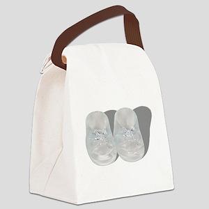 CrystalBabyBooties062210Shadow.pn Canvas Lunch Bag