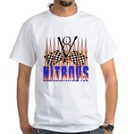 NITROUS FLAGS & FLAMES White T-Shirt