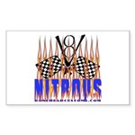 NITROUS FLAGS & FLAMES Rectangle Sticker