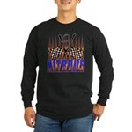 NITROUS FLAGS & FLAMES Long Sleeve Dark T-Shirt