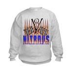 NITROUS FLAGS & FLAMES Kids Sweatshirt