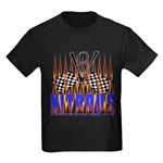 NITROUS FLAGS & FLAMES Kids Dark T-Shirt