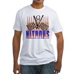 NITROUS FLAGS & FLAMES Fitted T-Shirt