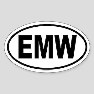 EMW Oval Sticker