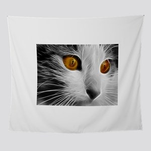 black & white cat Wall Tapestry